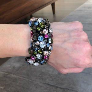 Anthropologie Multi-Color Crystal Bracelet